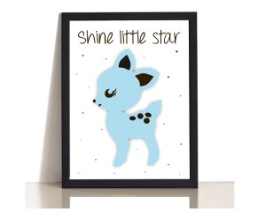 Shine little star bambine plakat