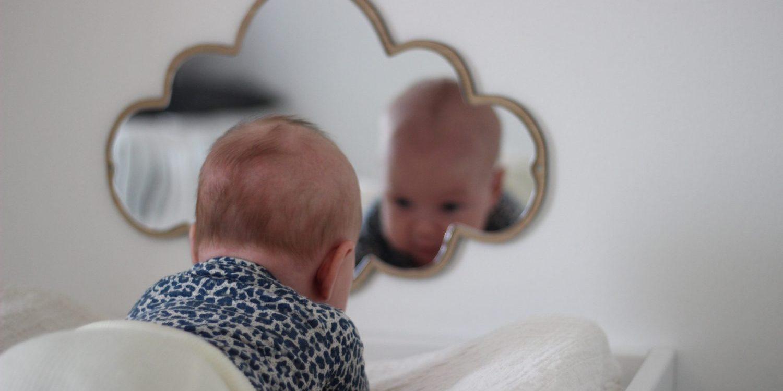 Sky spejl, børnespejl, spejl til børneværelset, spejle til børn